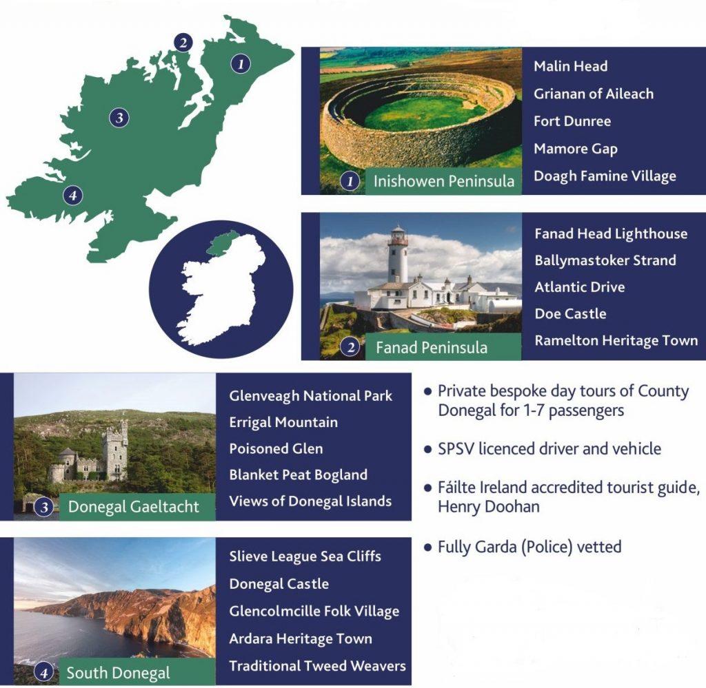 Donegal Tour Routes